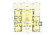 Modern Farmhouse style plan, main level floor plan