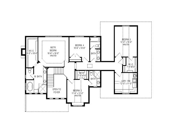 Craftsman Floor Plan - Upper Floor Plan Plan #920-36