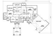 Traditional Style House Plan - 4 Beds 4.5 Baths 3316 Sq/Ft Plan #5-344 Floor Plan - Main Floor Plan