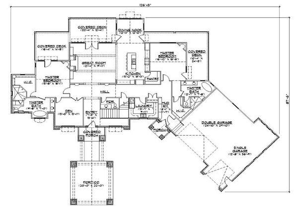 House Plan Design - Traditional Floor Plan - Main Floor Plan #5-344