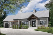 Ranch Style House Plan - 2 Beds 1 Baths 1212 Sq/Ft Plan #23-2637 Exterior - Front Elevation