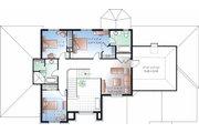 European Style House Plan - 5 Beds 3.5 Baths 3187 Sq/Ft Plan #23-828 Floor Plan - Upper Floor Plan