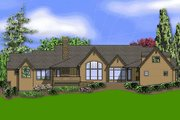 European Style House Plan - 3 Beds 2.5 Baths 3940 Sq/Ft Plan #48-430 Exterior - Rear Elevation