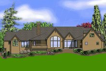 Home Plan - European Exterior - Rear Elevation Plan #48-430