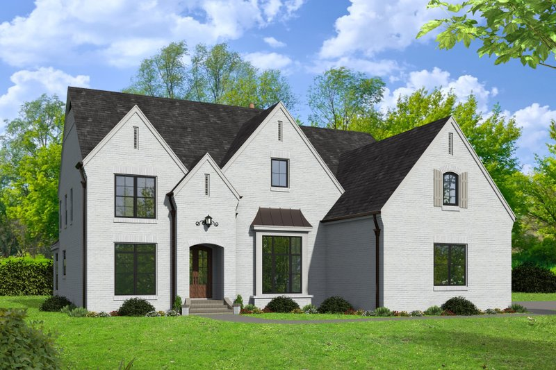 Architectural House Design - Country Exterior - Front Elevation Plan #932-122