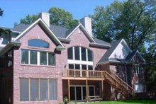 Dream House Plan - Traditional Exterior - Rear Elevation Plan #70-555
