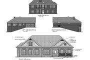 Ranch Style House Plan - 3 Beds 2 Baths 1787 Sq/Ft Plan #56-141 Exterior - Rear Elevation