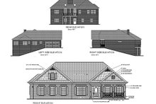 Home Plan Design - Ranch Exterior - Rear Elevation Plan #56-141
