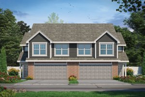 House Blueprint - Traditional Exterior - Front Elevation Plan #20-2466