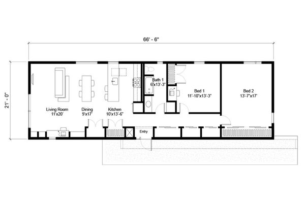 Modern Floor Plan - Main Floor Plan Plan #497-59