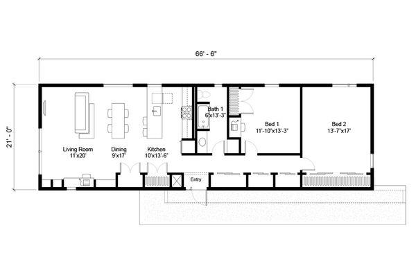 Modern Floor Plan - Main Floor Plan Plan #497-59