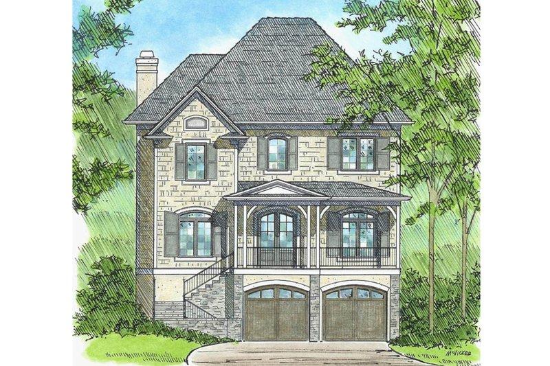 Dream House Plan - European Exterior - Front Elevation Plan #1054-42