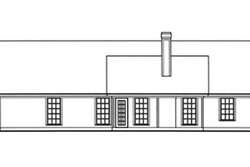 Country Exterior - Rear Elevation Plan #42-400 - Houseplans.com