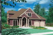 Craftsman Style House Plan - 3 Beds 2.5 Baths 2265 Sq/Ft Plan #48-383 Exterior - Front Elevation