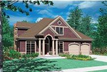 Dream House Plan - Craftsman Exterior - Front Elevation Plan #48-383