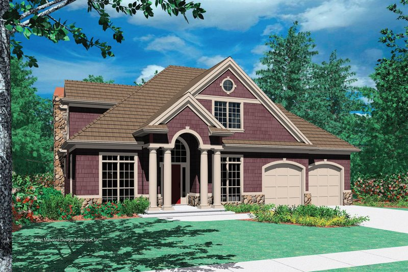 Craftsman Exterior - Front Elevation Plan #48-383