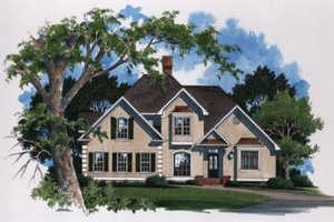 Architectural House Design - European Exterior - Front Elevation Plan #41-154