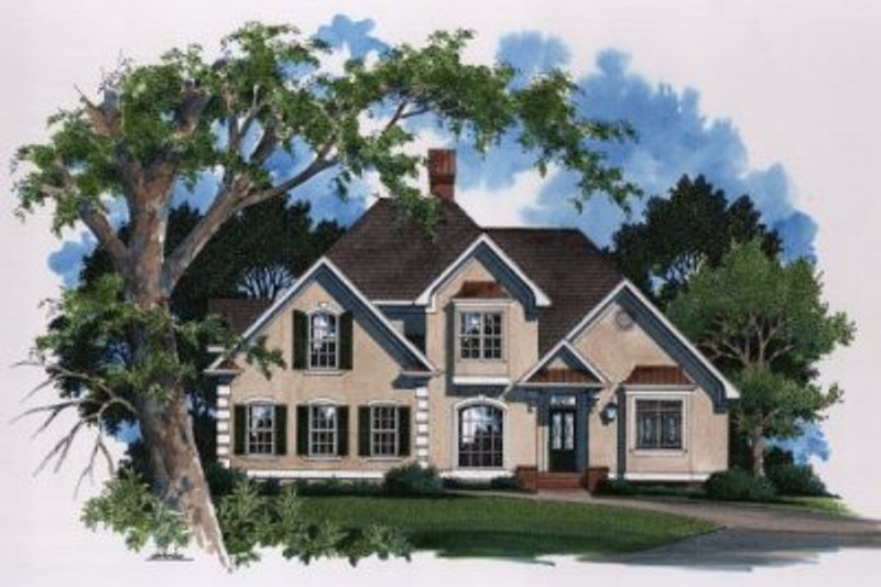European Exterior - Front Elevation Plan #41-154