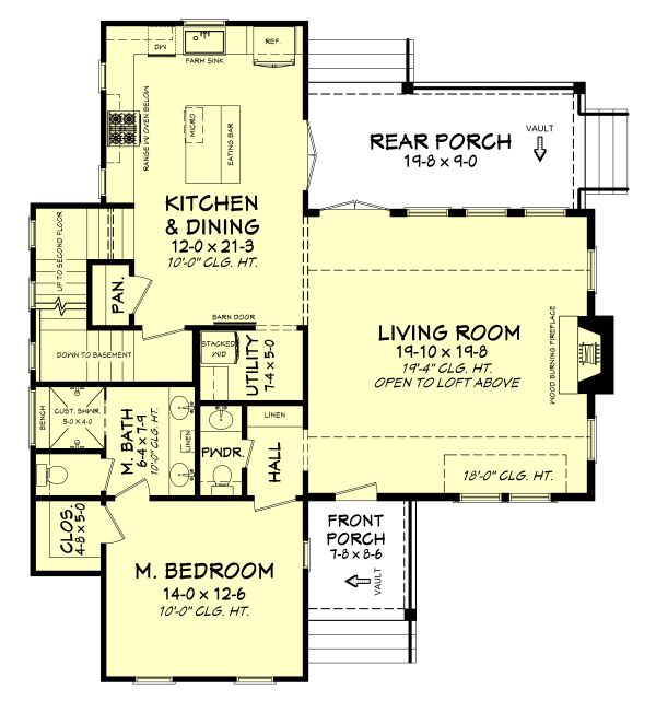 Farmhouse Floor Plan - Other Floor Plan Plan #430-180