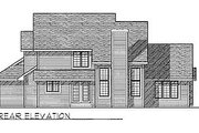 Traditional Style House Plan - 4 Beds 2.5 Baths 2053 Sq/Ft Plan #70-294 Exterior - Rear Elevation