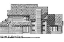 Dream House Plan - Traditional Exterior - Rear Elevation Plan #70-294
