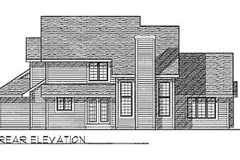 Traditional Exterior - Rear Elevation Plan #70-294 - Houseplans.com