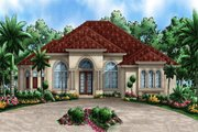 Beach Style House Plan - 3 Beds 3.5 Baths 4501 Sq/Ft Plan #27-513 Exterior - Front Elevation