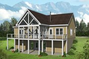 Country Style House Plan - 2 Beds 2 Baths 1304 Sq/Ft Plan #932-55 Exterior - Rear Elevation