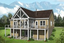 House Plan Design - Country Exterior - Rear Elevation Plan #932-55