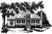 Traditional Style House Plan - 3 Beds 2 Baths 1365 Sq/Ft Plan #36-112 Exterior - Front Elevation