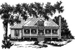 Home Plan - Traditional Exterior - Front Elevation Plan #36-112