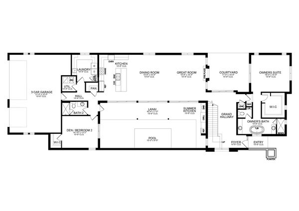 Contemporary Floor Plan - Main Floor Plan #1058-207