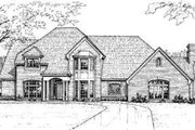 European Style House Plan - 4 Beds 3.5 Baths 3239 Sq/Ft Plan #310-125 Exterior - Front Elevation