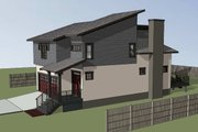 Modern Style House Plan - 3 Beds 2.5 Baths 1917 Sq/Ft Plan #79-300 Exterior - Other Elevation