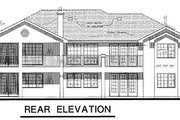 Ranch Style House Plan - 3 Beds 2 Baths 1850 Sq/Ft Plan #18-152 Exterior - Rear Elevation