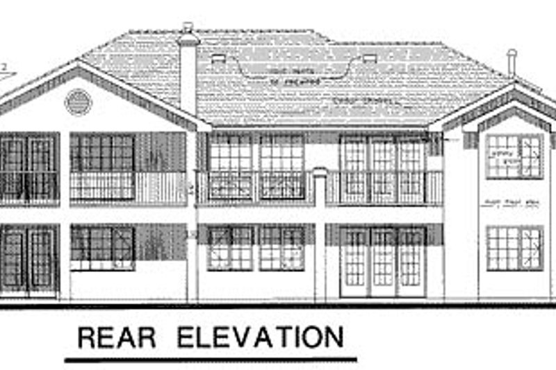 Ranch Exterior - Rear Elevation Plan #18-152 - Houseplans.com