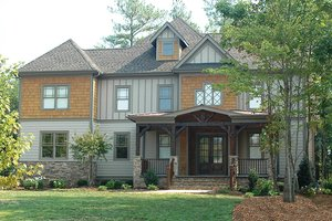 Dream House Plan - Craftsman Exterior - Front Elevation Plan #413-107