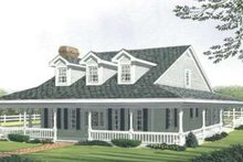 Dream House Plan - Country Exterior - Front Elevation Plan #410-121
