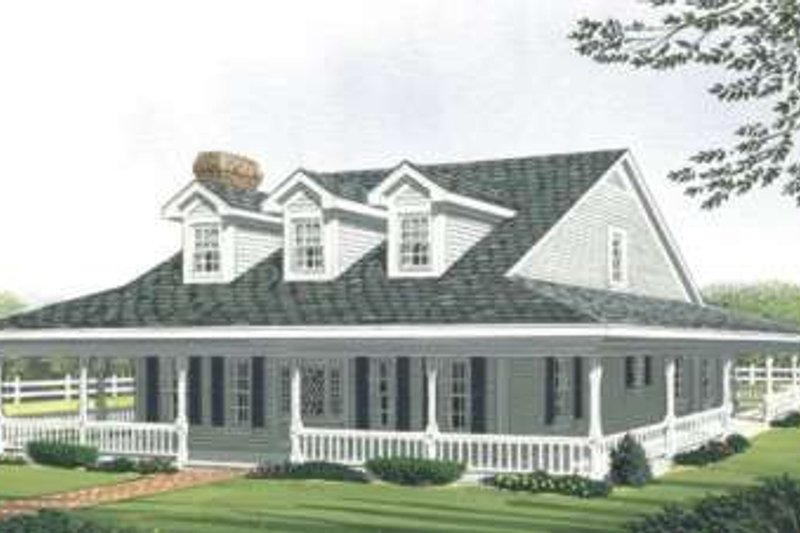 Country Exterior - Front Elevation Plan #410-121 - Houseplans.com