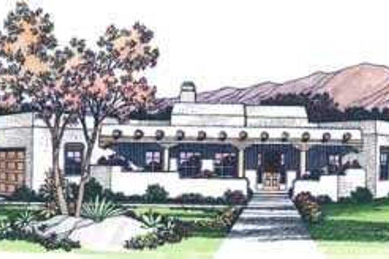 Adobe / Southwestern Exterior - Other Elevation Plan #72-127 - Houseplans.com