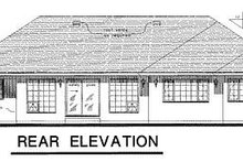 House Blueprint - Traditional Exterior - Rear Elevation Plan #18-103
