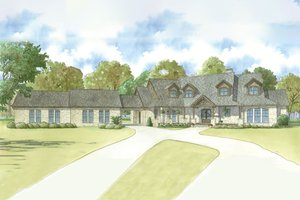 Country Exterior - Front Elevation Plan #923-39