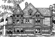 Victorian Style House Plan - 5 Beds 5.5 Baths 4898 Sq/Ft Plan #320-414 Exterior - Front Elevation