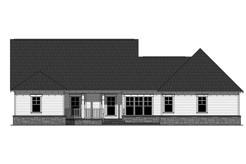 Craftsman Exterior - Rear Elevation Plan #21-330 - Houseplans.com