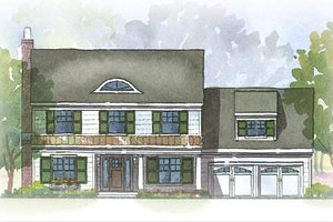 Colonial style, elevation