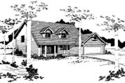 Traditional Style House Plan - 3 Beds 2.5 Baths 1815 Sq/Ft Plan #303-108 Exterior - Front Elevation