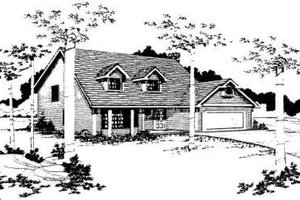 Traditional Exterior - Front Elevation Plan #303-108