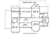 European Style House Plan - 6 Beds 6.5 Baths 3798 Sq/Ft Plan #117-537 Floor Plan - Upper Floor Plan