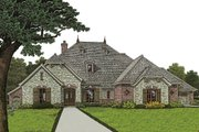 European Style House Plan - 4 Beds 3.5 Baths 2812 Sq/Ft Plan #310-973 Exterior - Front Elevation