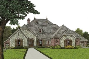 Architectural House Design - European Exterior - Front Elevation Plan #310-973